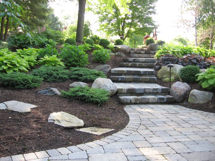 steps and plantings up a gradual slope in a shady back yard landscaping pinterest planting yards and landscaping