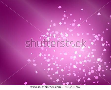 Abstract Sparkling Stars on Holiday lilac  Background. Vector Illustration.