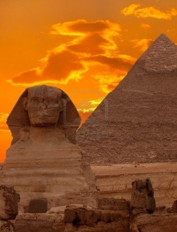 The Sphinx and the Great Pyramid, Egypt