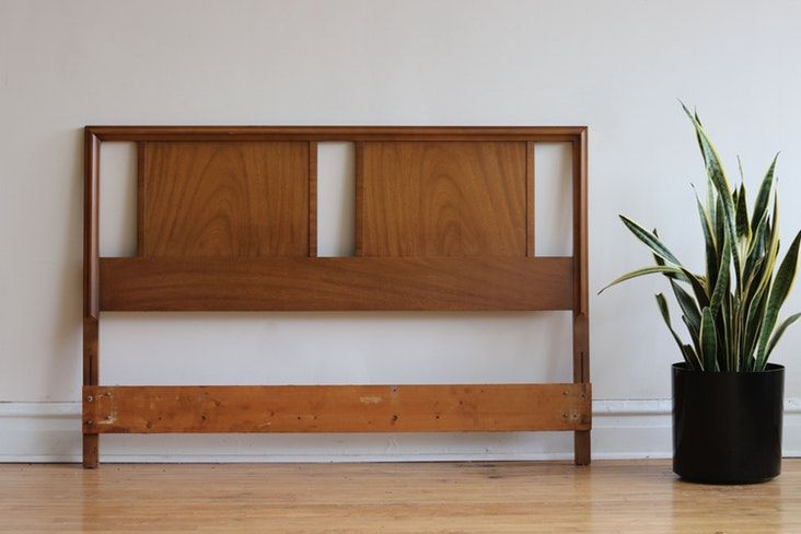 Apartment Therapy S Bazaar Mid Century Modern Bed Mid Century Headboard Modern Bed Frame