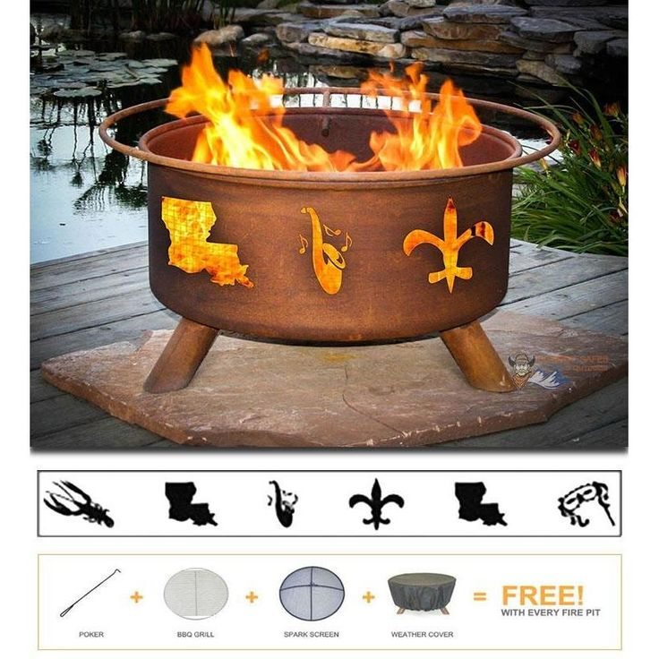 Mardi Gras Fire Pit - Bringing the campfire experience to your backyard