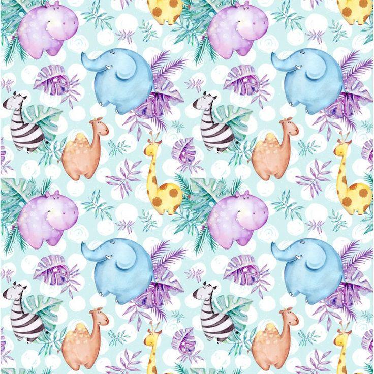 Safari baby deken, wieg deken safari dieren olifant giraffe zebra, Safari baby douche cadeau unisex, gepersonaliseerde deken met olifant