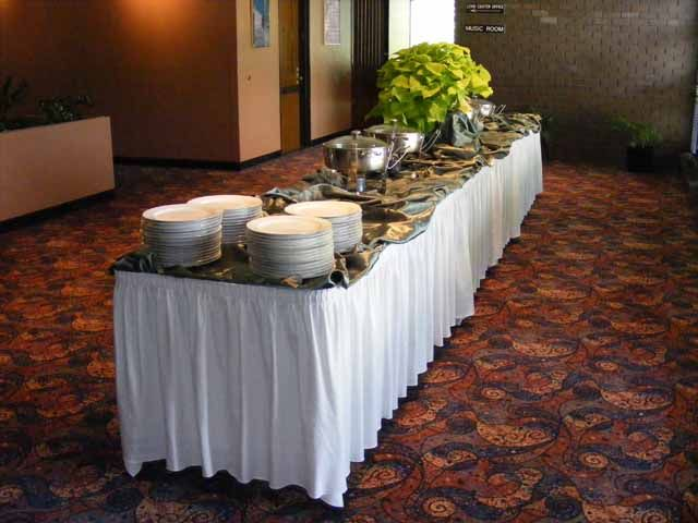 Wedding Reception Buffet Set Up Tables