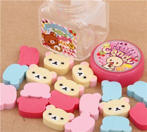 Rilakkumarket scented eraser jar Rilakkuma fruit candy