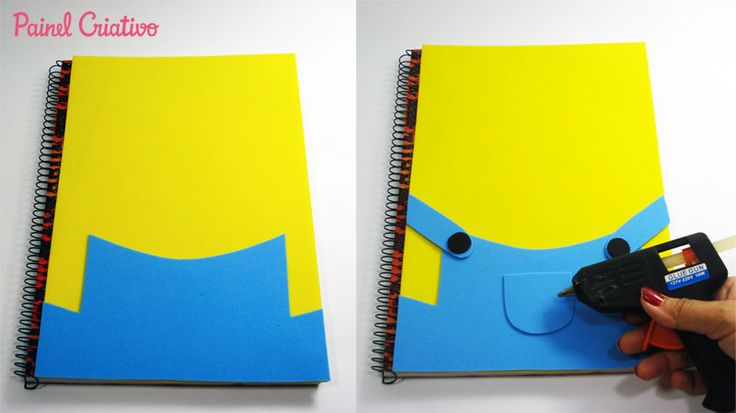 como fazer capa caderno eva minions meu malvado favorito meninos escola (4)