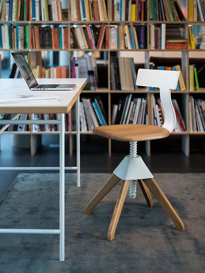 Schreibtischstuhl Tuffy Eiche weiß Bürostuhl