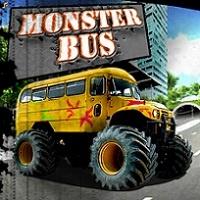Autobuz Monster Truck - Jocuri noi dar si jocuri cu masini mari cum sunt autobuzele.