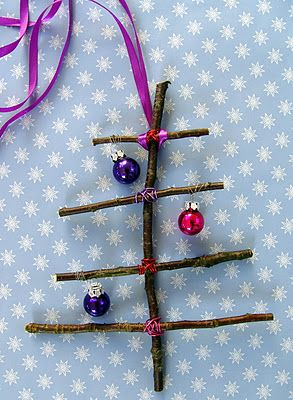 Homemade ornaments -- How cute is this.?? I live right out in the woods, and I could use beads for the ornaments