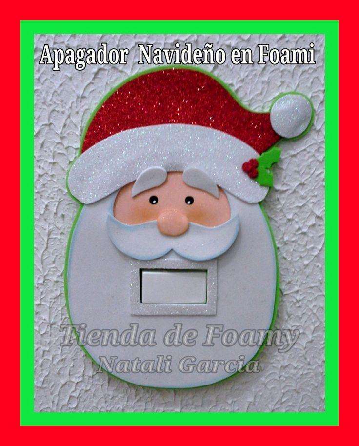 Suicheros Apagadores Navideños En Foami Adornos Navidad - Bs. 1.500,00 en Mercado Libre