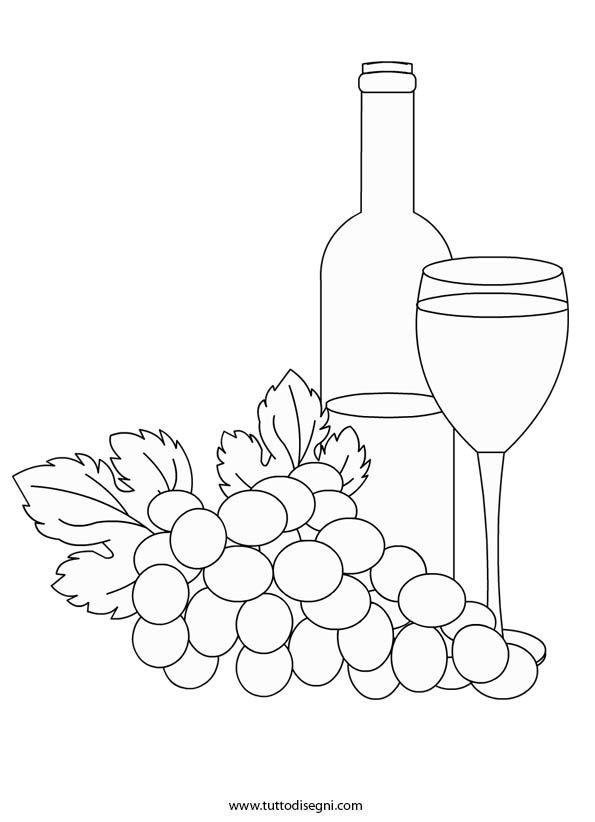 botte di vino DA COLORARE | Disegno Di Bottiglia Di Vino Da Colorare 660x847 Jpg…