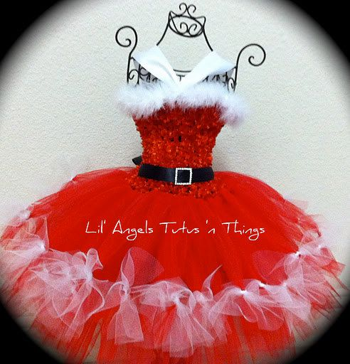 Santa Baby Tutu Dress by LilAngelsTutus on Etsy