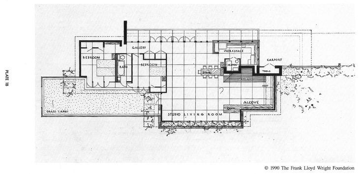 Goetsch winckler house 2410 hulett rd okemos michigan Frank lloyd wright house plans free