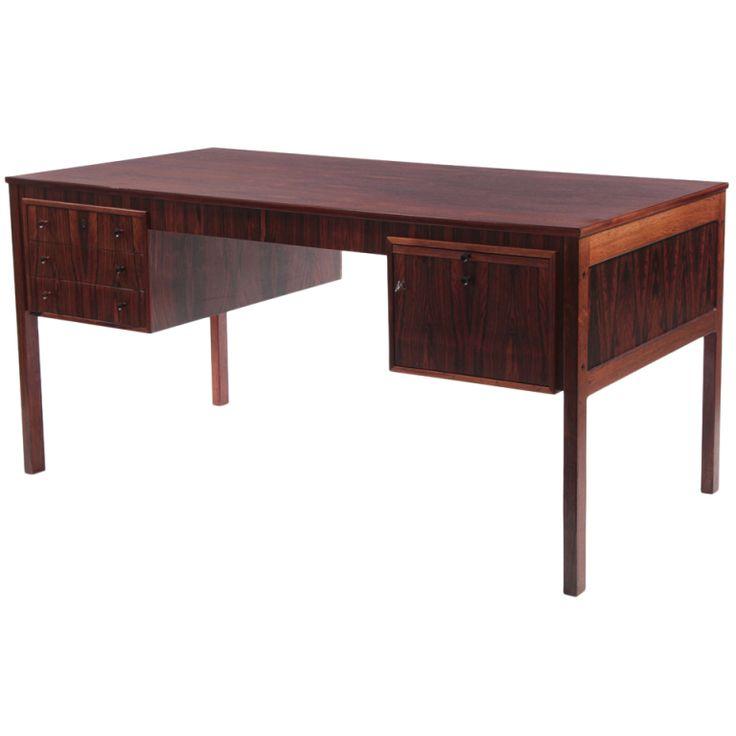 Elegant Brazilian Rosewood Desk by Erik Wortz | From a unique collection of antique and modern desks at http://www.1stdibs.com/furniture/storage-case-pieces/desks/