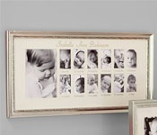 First year photo frame: Photos, Babies, Idea, Silver Leaf, Year Frame, Frames, Pottery Barn Kids, Year Photo, Leaves
