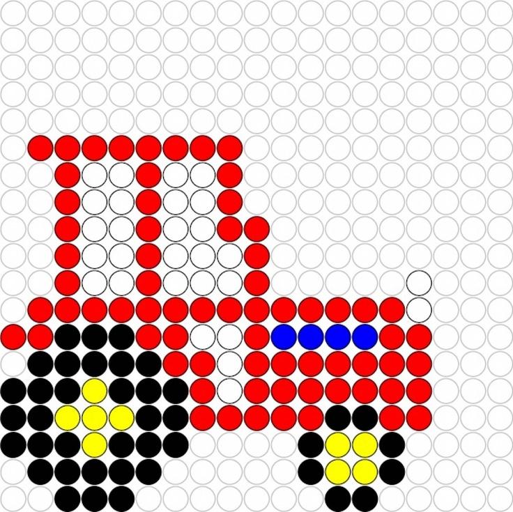 Kralenplank Traktor