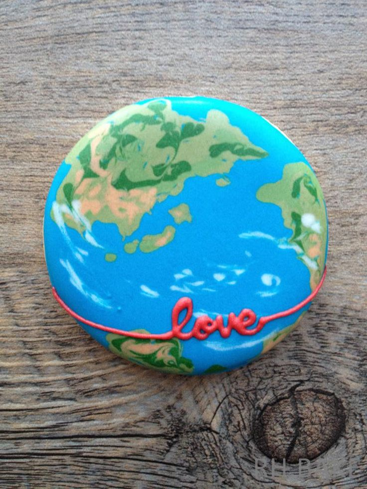 a globe with love | Cookie Connection