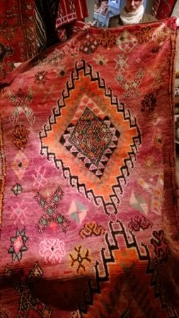 Vintage Wool Moroccan Tribal Rug (click to close)