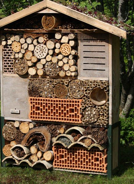 398 best h tels a insectes images on pinterest bug hotel insect hotel and bees. Black Bedroom Furniture Sets. Home Design Ideas