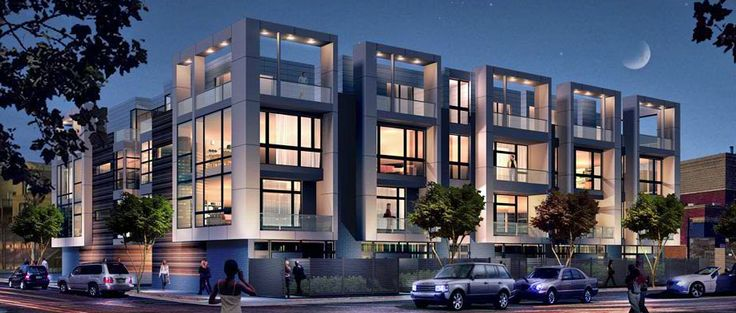Exterior rendering of Row2750, 2750 N Lakewood Ave, Chicago
