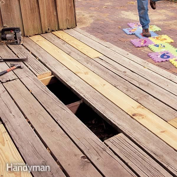 Has your deck seen better days? You probably don't have to rebuild the whole thing. Whether you have one bad deck board to replace or many, the process is the same. We'll show you how on an old, weathered deck, because you can save hundreds of dollars in lumber by splicing in boards instead of replacing the entire decking.</p>