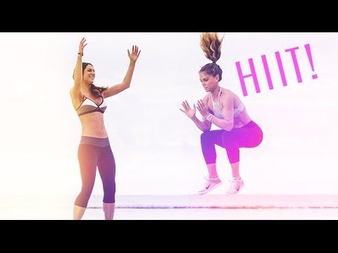 HIITY BITTY BIKINI ROUTINE! (20 mins) Brace yourself for a killer workout that will leave you glowing all day. 60 seconds of cardio + 60 seconds of of toning moves back to back with a 15 second breather! Make sure you have a water by your side... You're going to need it!