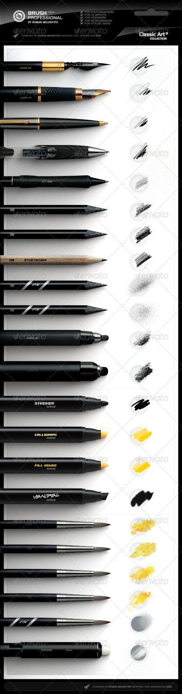 Photoshop Professional Brush Pack vol.4 - Classic Art