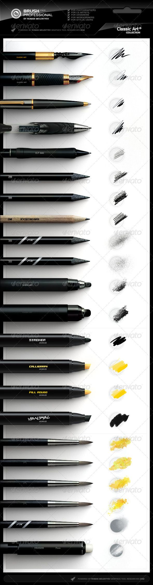 Photoshop Professional Brush Pack vol.4 - Classic by xgfxws.deviantart.com
