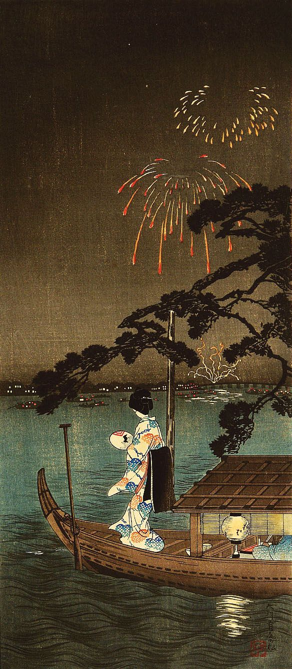 """ Shoutei (1871-1945) 松亭 The PineTree of Succes on the Sumida River 大川首尾の松、1910 ""  #Shoutei #japanese_art #japan"