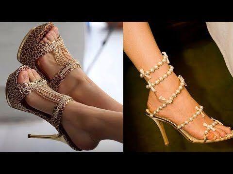 4ef25fcba00 Beautiful Designs Of Fancy High Heels For Women Beautiful Golden ...