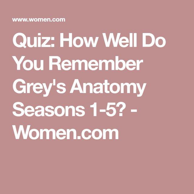 Quiz: How Well Do You Remember Grey's Anatomy Seasons 1-5? - Women.com