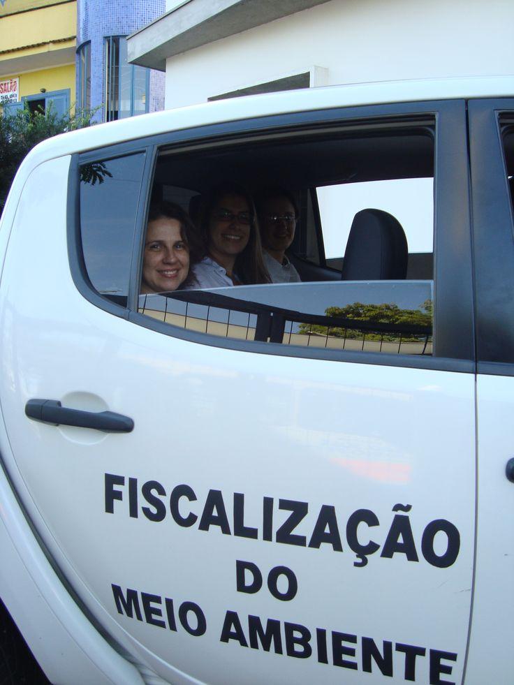 1ª vez na viatura de Adriana, Fabiane e Simone