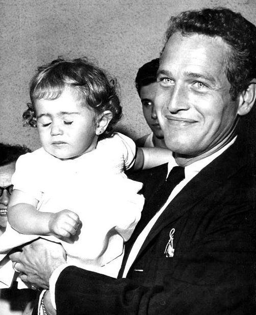 Paul Newman and daughter.