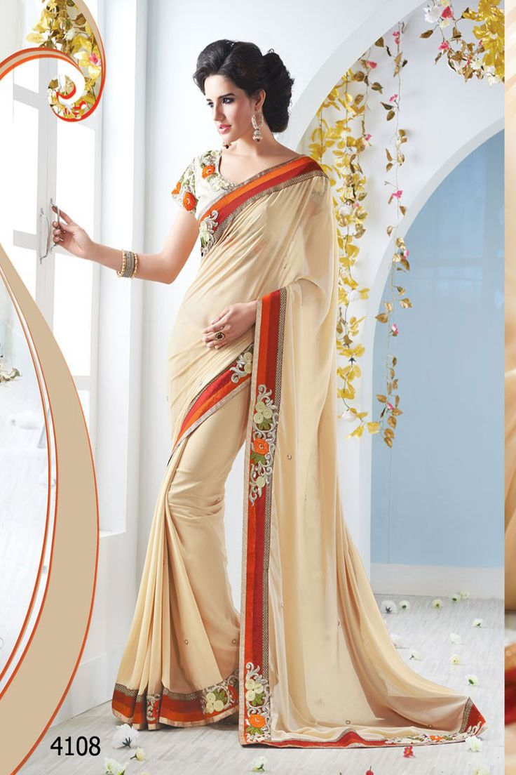 THAYARI.COM Latest Off White Party Wear Designer Saree