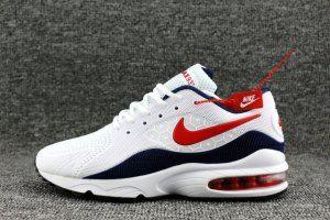 quality design b51d4 3ec00 Mens Nike Air Max 93 OG kpu White Navy Blue Red 306167 446 Running Shoes