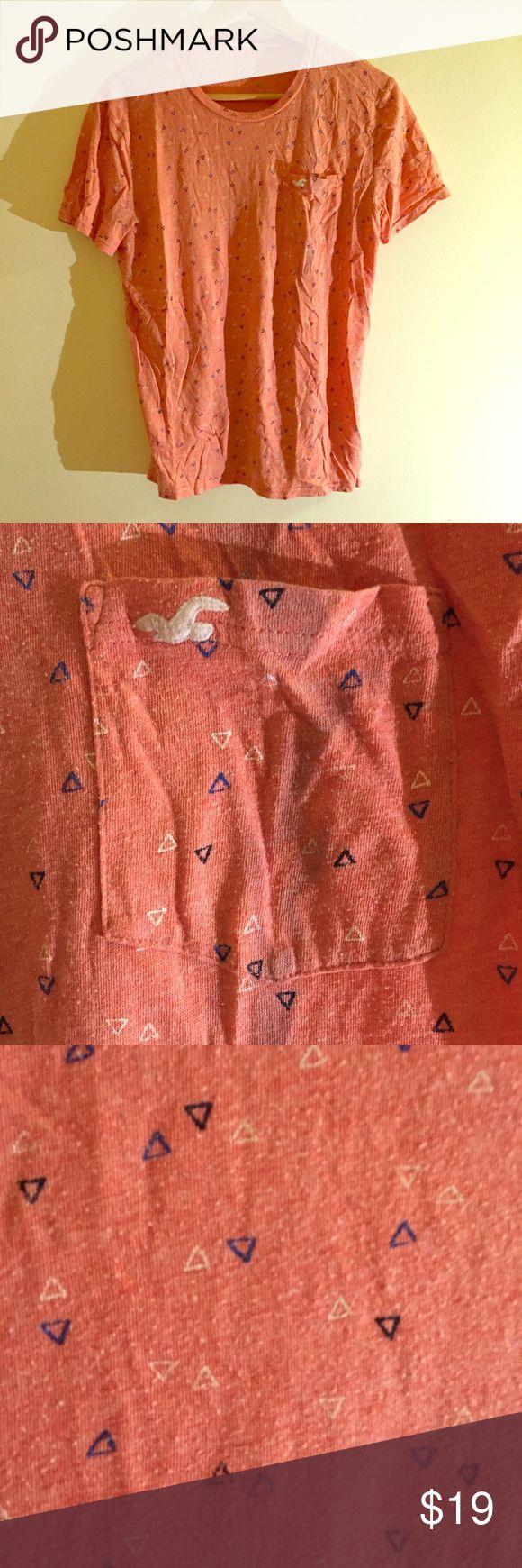 HOLLISTER Pink short sleeve men's Tshirt Super soft, trendy men's Hollister Tshirt. In great condition  Burberry; Gucci; Boss; Hugo; Saks; trousers; Jeans; blue; Armani; Calvin Klein; Tommy Hilfiger; Nike; Zara; Banana Republic; J Crew; NAUTICA ; Tommy Hilfiger; Hollister; Abercrombie and Fitch; Hollister Shirts Tees - Short Sleeve