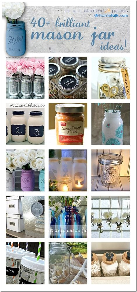 brilliant mason jar ideas ... - It All Started With Paint
