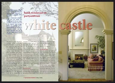 binnenwerk lay-out magazine luxe vakantiebestemmingen