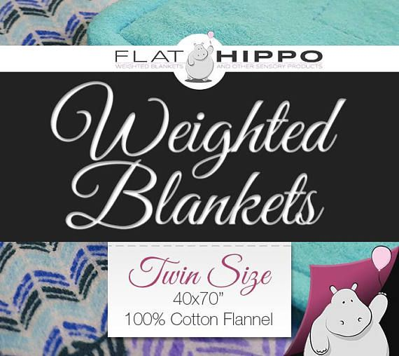 Weighted blankets by Flat Hippo for autism, anxiety, Alzheimer's, ADD/ADHD, sensory processing disorder (SPD), restless leg syndrome, insomnia, etc. https://www.etsy.com/listing/506856662/twin-size-flannel-weighted-blanket-40x70