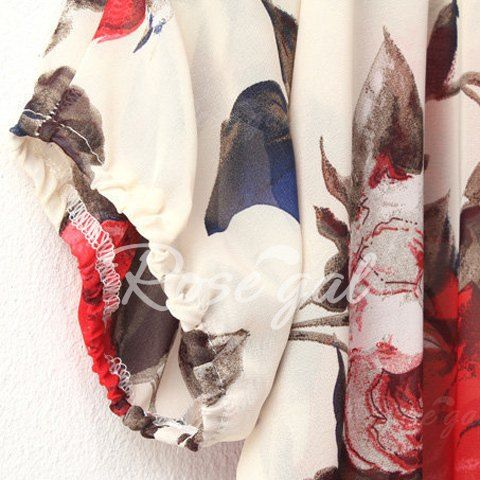 16 best dik images on pinterest floral patterns floral printables fashionable scoop neck off the shoulder floral print chiffon womens blouse fandeluxe Gallery