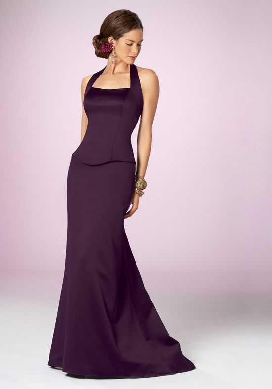 A Line Sweetheart Floor Length Attached Satin Bridesmaid Dress Style 215