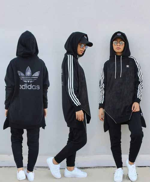 Hijab style with sneakers – Just Trendy Girls  Check out our collections of Beautiful hijabs http://www.lissomecollection.co.uk/New-arrivals