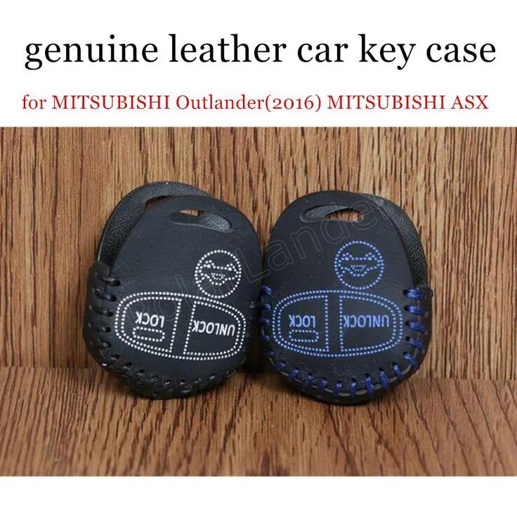 fit for M-ITSUBISHI O-utlander(2016) M-ITSUBISHI ASX P-AJERO(2014) car key case leather hand sewing car key cover best price #Affiliate