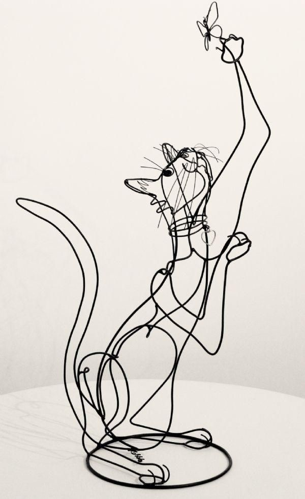 Escultura con alambre Por Rudy Kehkla