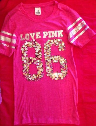 Victoria's Secret Pink Bling Tee   eBay
