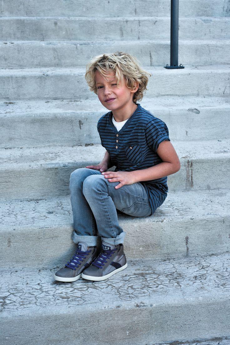 Valentine Kid, chaussures montantes en cuir et à lacets.