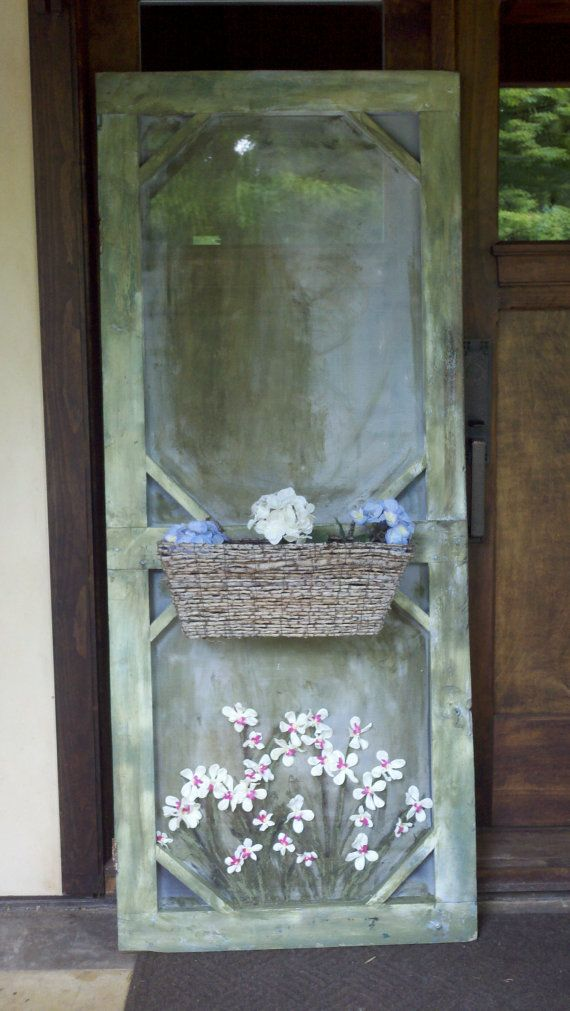 old screen door / decorative with a by DZdesignsandantiques, $50.00