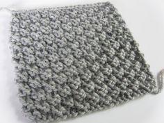 AnnyMay Le Blog: Point facile au tricot: le point de damier 2 maill...