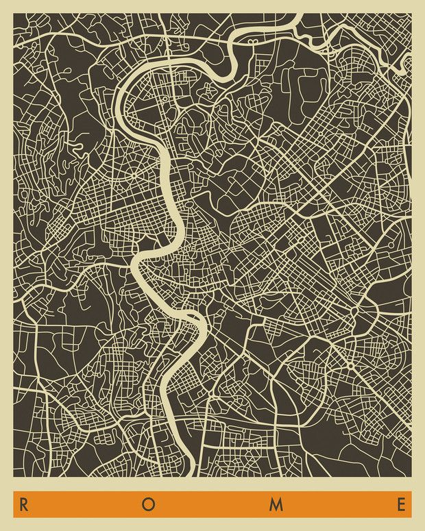 City Map - Rome - Wall Mural & Photo Wallpaper - Photowall