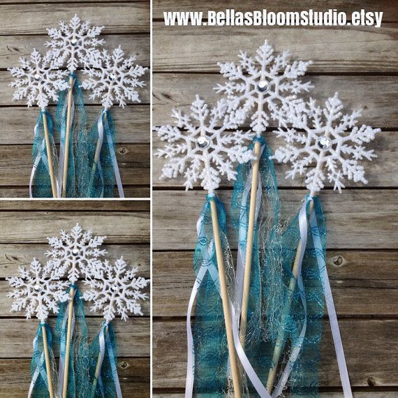 Frozen favors Frozen Wands Frozen decorations by BellasBloomStudio