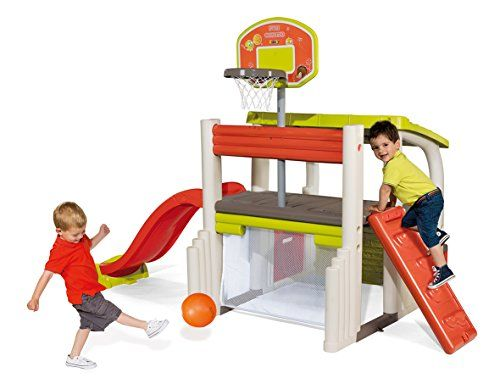 Smoby - 840203 - Jeu Plein Air - Air de Jeux - Fun Center - Toboggan ...
